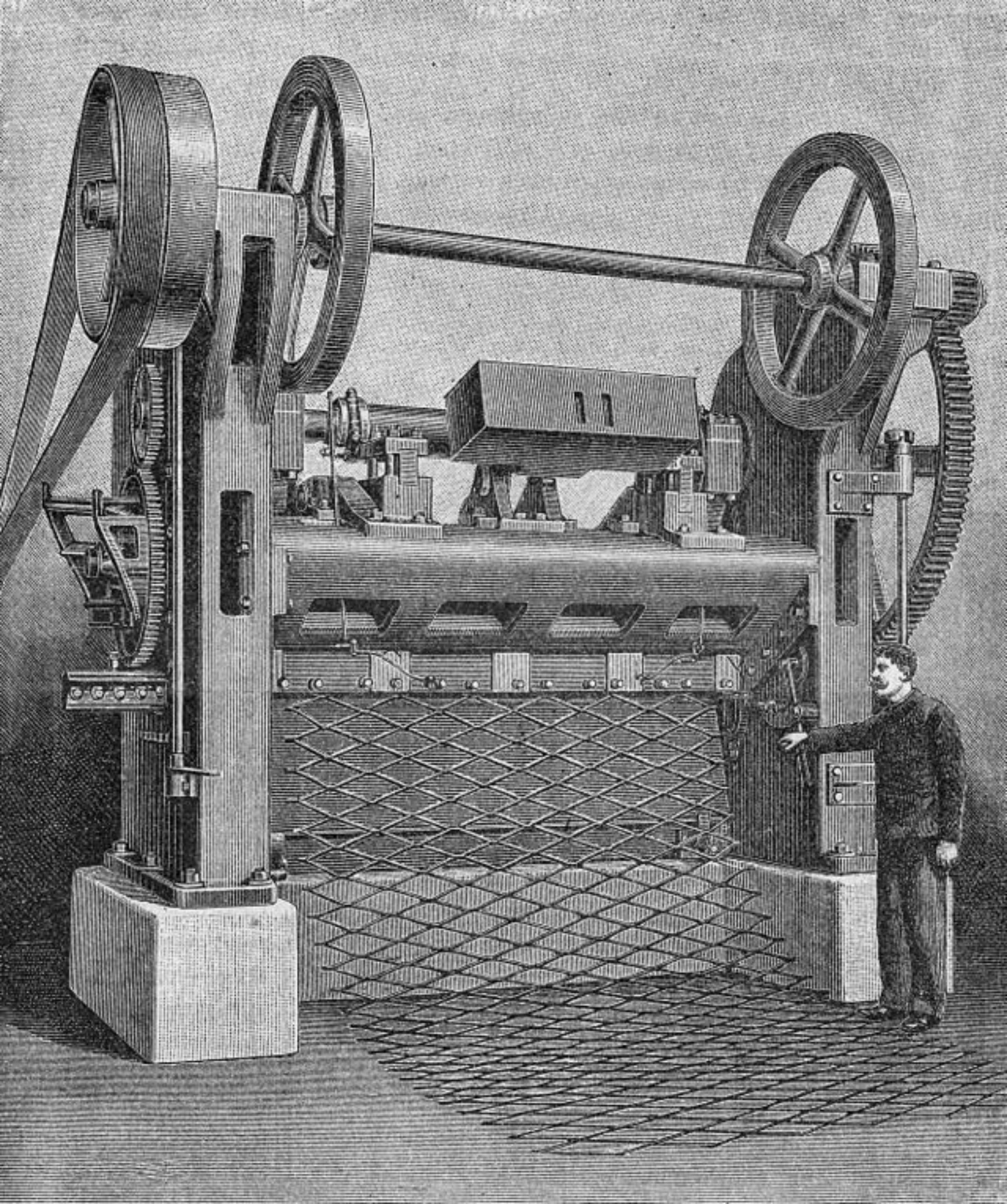 Primera Maquina para realizar el metal deployé. Berlin 1899