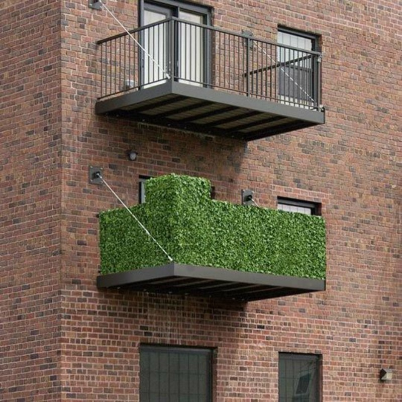 setos artificiales para la protección de la privacidad y la decoración en el balcón, terraza, patio