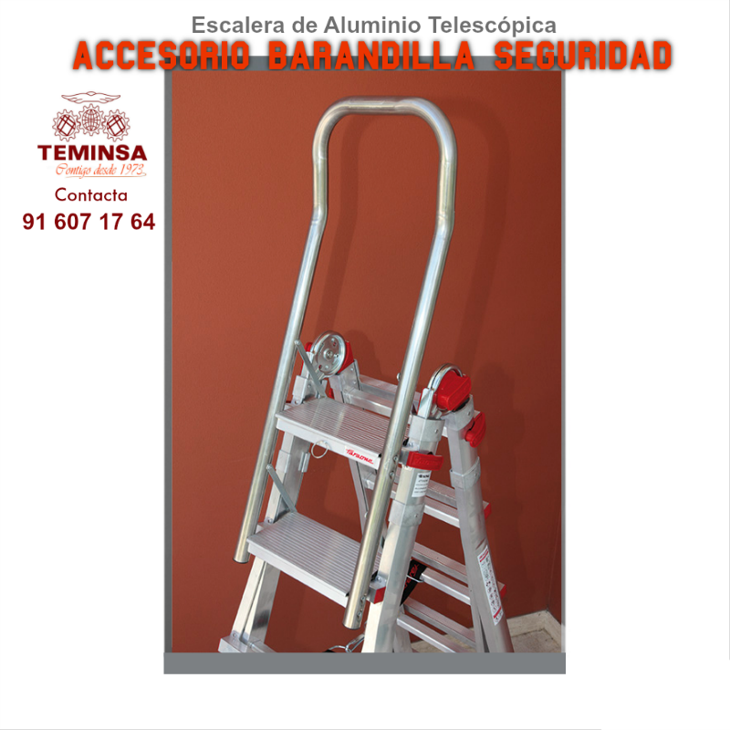 Escalera Alumino Telescópica Barandilla Seguridad Accesorio