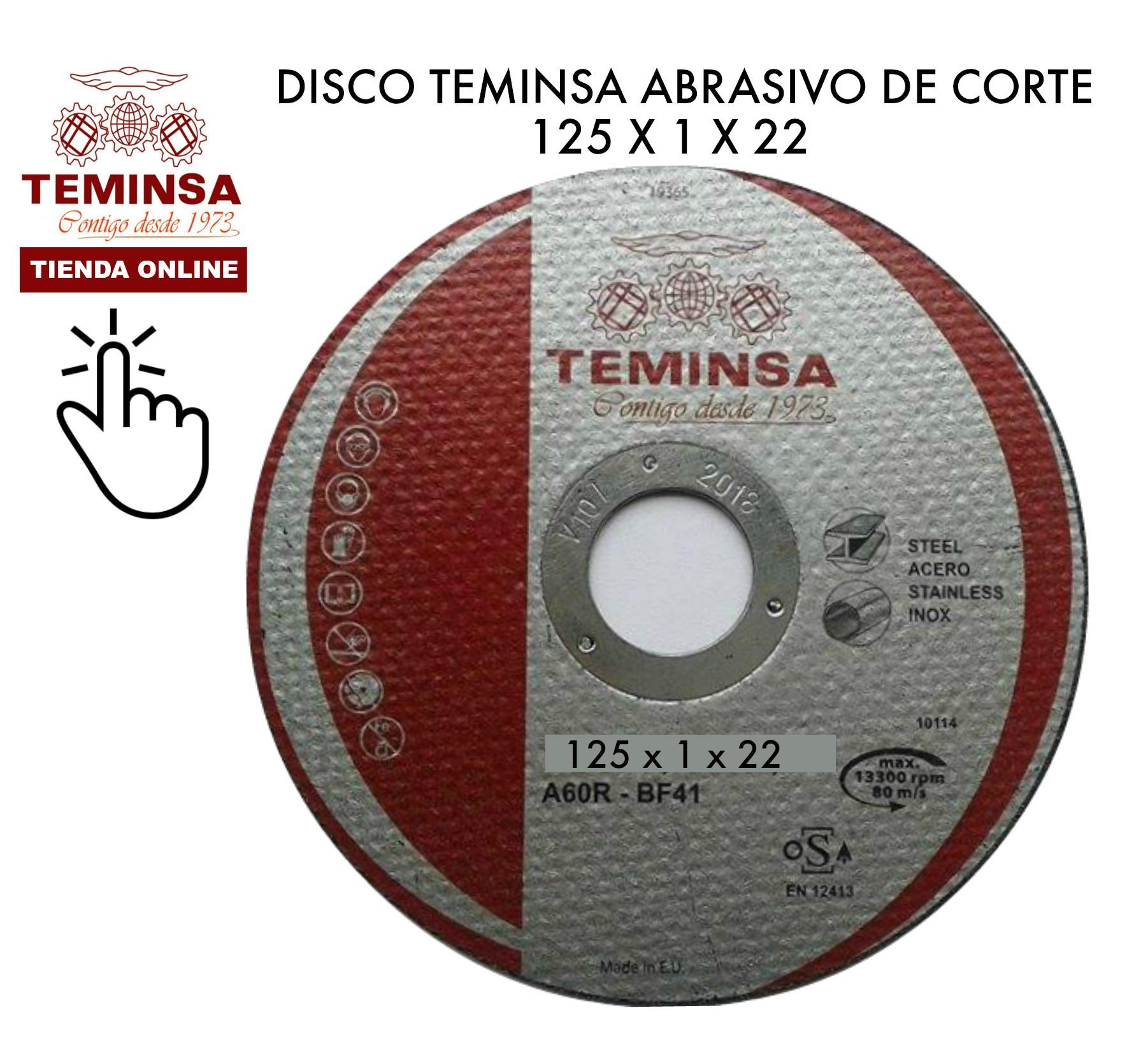 Disco Abrasivo de Corte Teminsa 125x1x22 Tienda Online