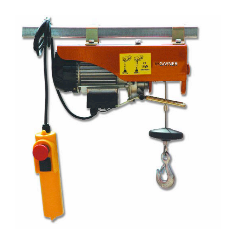 POLIPASTO ELECTRICO GAYNER 200-400 KG. CABLE 16M. 780W