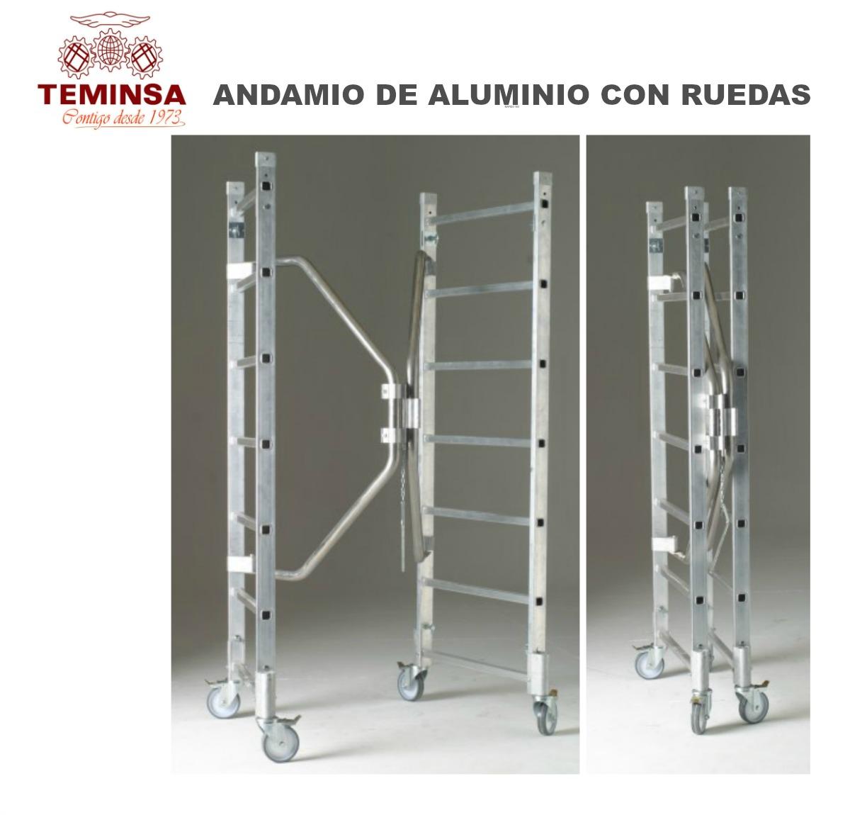 Andamio de Aluminio con Ruedas Teminsa