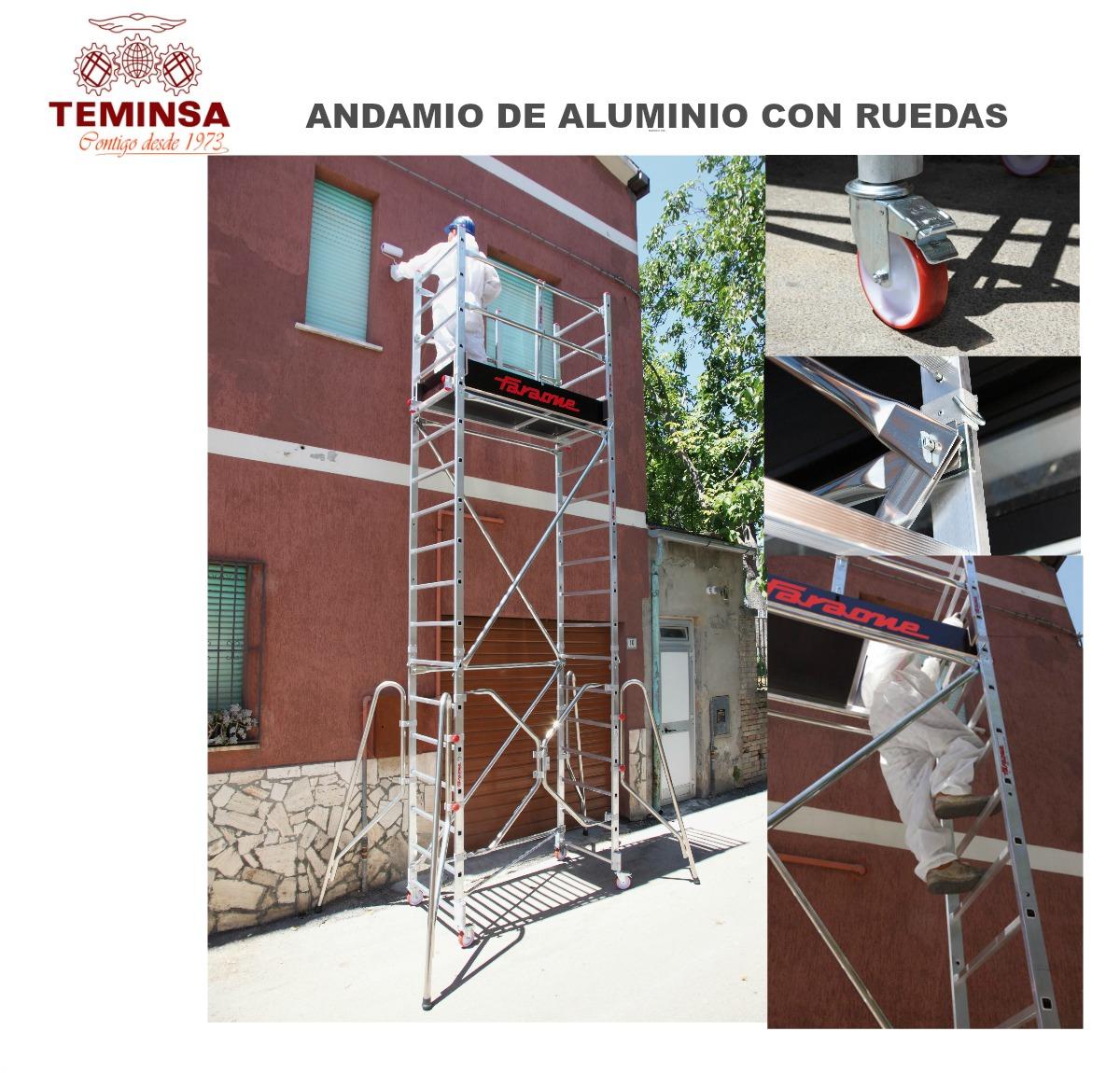 Andamio de Aluminio con Ruedas y Sistema Ric Teminsa