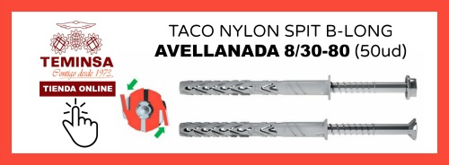 TACO NYLON SPIT B-LONG CAVELLANADA 830-80 (50ud) Teminsa Online