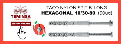 TACO NYLON SPIT B-LONG CHEXAGONAL 1030-80 Teminsa Online