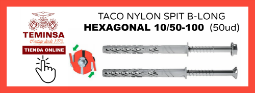 TACO NYLON SPIT B-LONG CHEXAGONAL 1050-100 (50ud) Teminsa Online