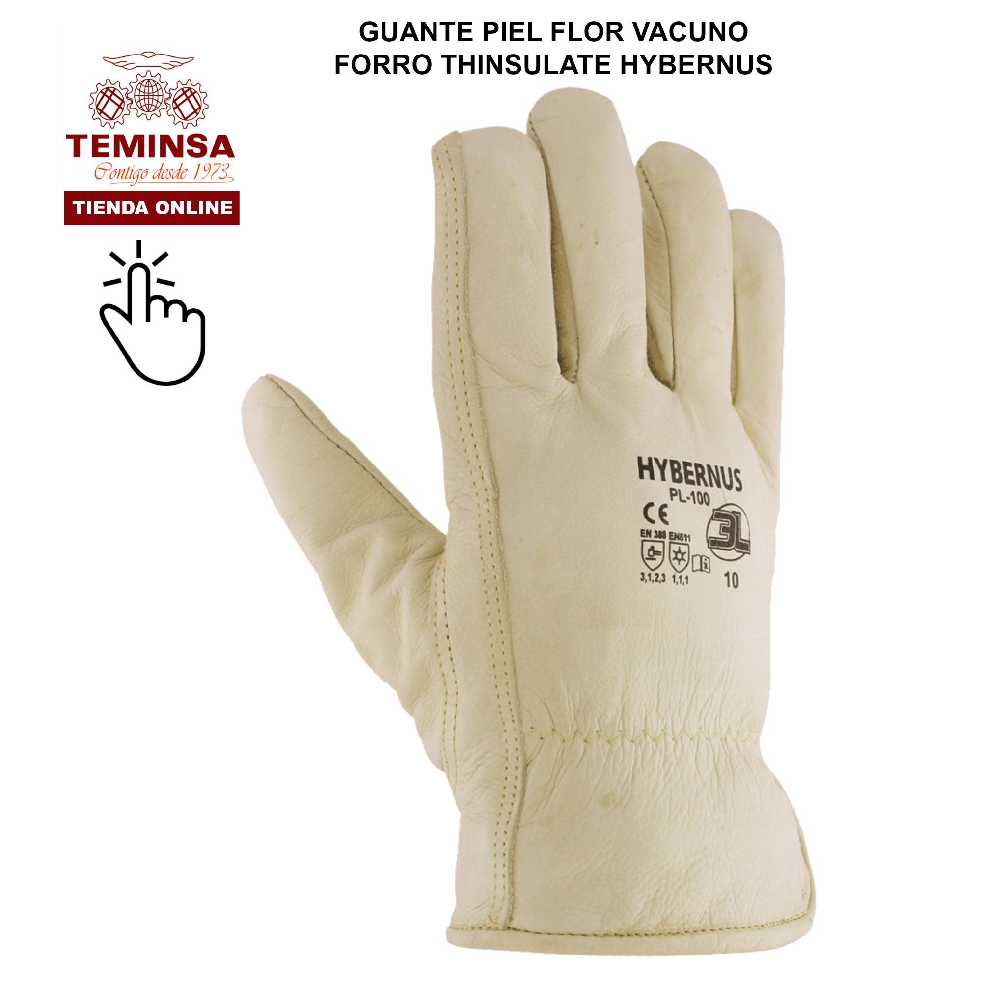 Guantes para el frio o bajas temperaturas Piel Flor Vacuno Teminsa Online