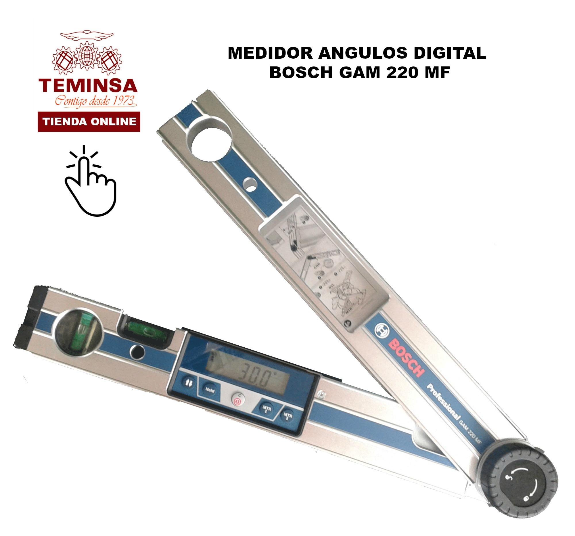 MEDIDOR ANGULOS DIGITAL BOSCH GAM 220 MF TEMIINSA ONLINE