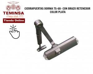 Cómo ajustar un cierrapuertas DORMA TS 68 CON BRAZO RETENDOR COLOR PLATA