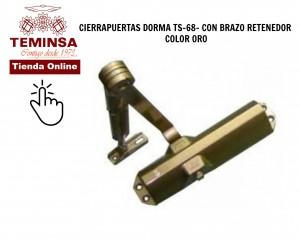 Cómo ajustar un cierrapuertas DORMA TS 68 CON BRAZO RETENEDOR COLOR ORO