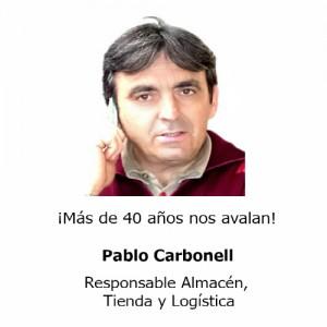 Pablo Carbonell Responsable Almacén, Tienda y Logistica Teminsa Tmi