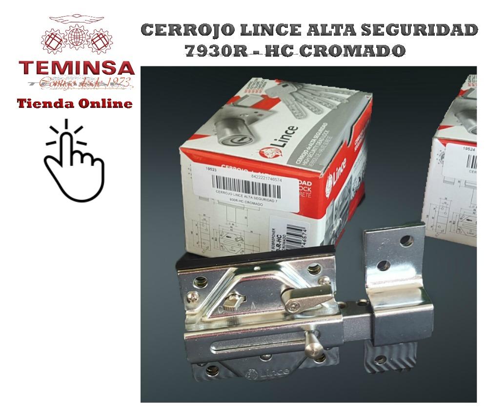 Cerrojo de Alta Seguridad Lince 7930R HC Cromado Teminsa Tienda Online