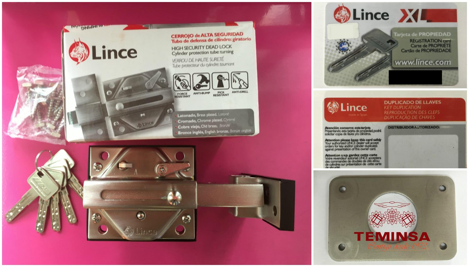 Cerrojo de Alta Seguridad Lince Embalaje Presentación Producto Teminsa Tienda Online