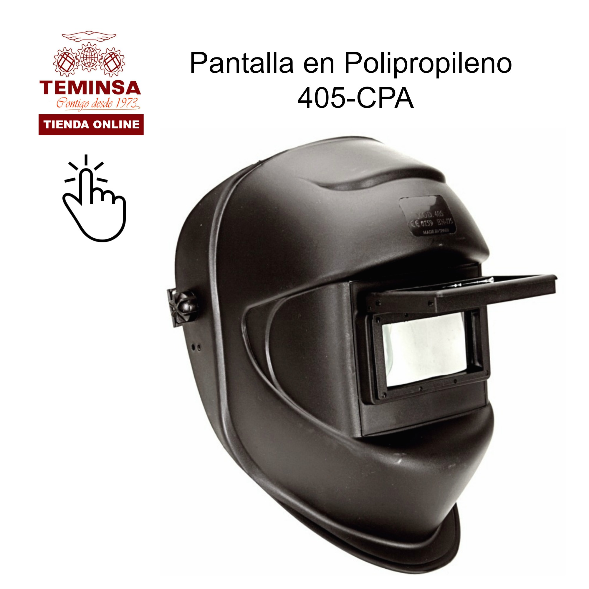 Pantalla Soldador  FIJACION CABEZA VENTANA MOVIL POLIPROPILENO 405-CPA Teminsa Online