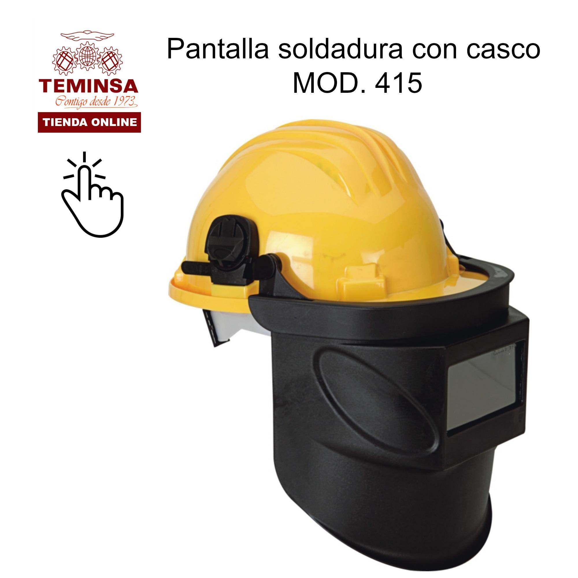 Pantalla Soldador acoplada a casco de industria modelo 415 Teminsa Online