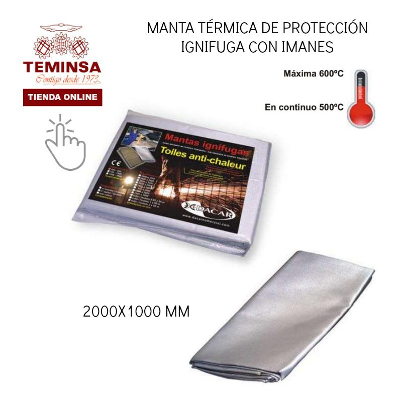 manta térmica de protección ignífuga