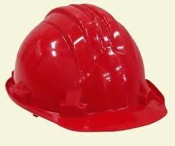 casco de obra rojo