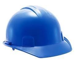 cascos azul de seguridad laboral