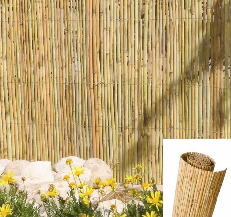 El cañizo como sistema de ocultación para el jardín