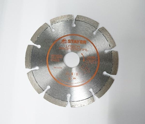 Disco de diamante Ø125X22/2,2X7 láser naranja Oscar