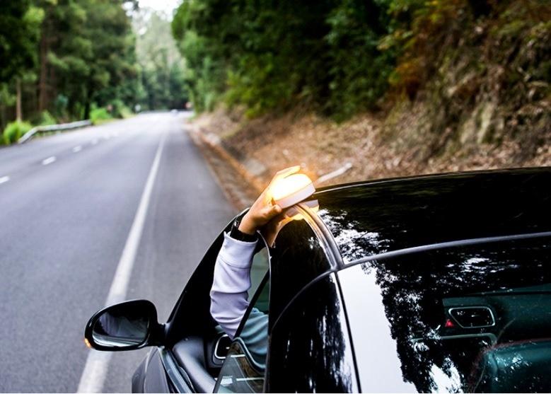 Baliza luminosa de emergencia para señalar vehículos Help Flash
